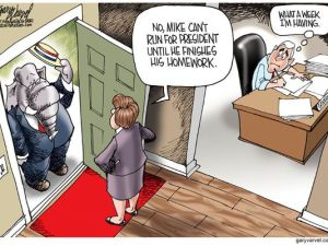 Cartoonist Gary Varvel of the Indianapolis Star on Pence Presidential Bid