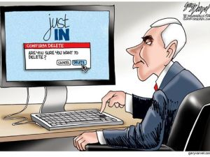 Cartoonist Gary Varvel of the Indianapolis Star on Pence's News Network